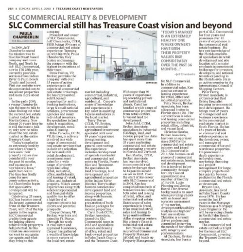 SLC Commercial still has Treasure Coast vision and beyond