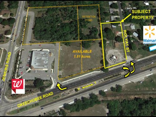1.13 Acres at 5550 Okeechobee Rd, Ft. Pierce