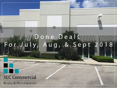 Done Deals For July, Aug, & Sept 2018